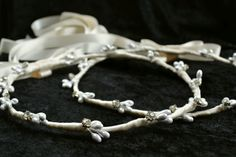 Greek Orthodox Crowns Pearl Stefana Crowns by lotusflowerdesigns