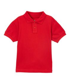 Engine Red Two-Button Polo - Toddler & Boys