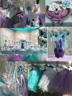 """Frozen Princess Birthday Party Ideas. Snowflake Party Favors included in this """"Frozen Inspired"""" QUEEN FROSTINE"""" Princess Party from My Princess Party to Go. See it now www.myprincesspartytogo.com #frozenparty #Disneyfrozenparty #princessbirthdaypartyideas"""