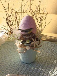 valentine's peat pots   Easter Birds Nest Altered Peat Pot Robins Egg Easter Egg Peat Pot,Mix ...