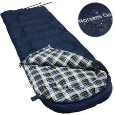 9. Norsens Flannel Lightweight Camping Backpacking Sleeping Bag Fits up to 6'5