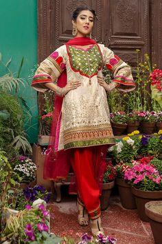 Red Fashion, Asian Fashion, Fashion Dresses, Fancy Dress, New Dress, Dress Up, Embroidery Suits Punjabi, Indian Embroidery, Pakistani Outfits