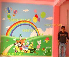 Vẽ tranh tường mầm non tại thị xã Sơn Tây - HN