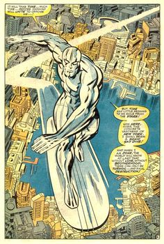 The Silver Surfer by Jack Kirby (from Fantastic Four #72)