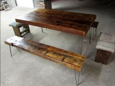 Hairpin leg table project ll