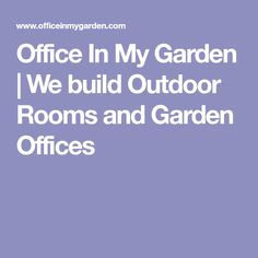 Office In My Garden is a bespoke Garden Room Company based in North London specialsing in the construction of Garden Rooms, Garden Offices and Summerhouses Shed Playhouse, Playhouse Ideas, Garden Office, North London, Modular Homes, Outdoor Rooms, Play Houses, Offices, Building