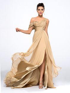 chicmall.de lieferungenAppliques All Sizes Empire Celebrity A-line Yellow Floor-Length Fall Dress Lange Abendkleider