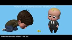 Got a chance to do a test shot with  boss baby rig,had lot of fun animation this character [ Animation on boy character is not final ].