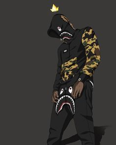 List of Great Orange Anime Wallpaper IPhone Cartoon Wearing Supreme Wallpapers Top Free Cartoon with The Most Awesome Cartoon Wallpaper Bape Cartoon Wallpaper, Dope Wallpaper Iphone, Arte Dope, Dope Art, Dope Kunst, Bape Wallpapers, Savage Wallpapers, Iphone Cartoon, Trill Art