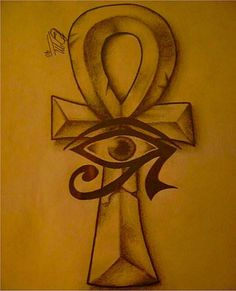 - Ankh Tattoo Designs – Meaning of Egyptian Cross Symbol Uncategorized Ankh+Cross+With+The+Right+Eye+Of+Horus+Tattoo+Designed+For+Juan+In+ . Ankh Symbol, Cross Symbol, Ankh Tattoo, Eye Of Ra Tattoo, Life Symbol Tattoo, Samoan Tattoo, Polynesian Tattoos, Tattoo Ink, Egyptian Symbols