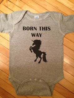 Funny Lady Gaga Born This Way Baby Body Suit One by StellasShoppe, $12.00