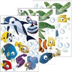 Popular Wandsticker Unterwasserwelt Fische Ozean Wandtattoo f r Kinderzimmer Kinder Badezimmer Junge