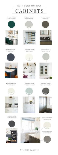 Sharing our favorite kitchen cabinet paint colors!
