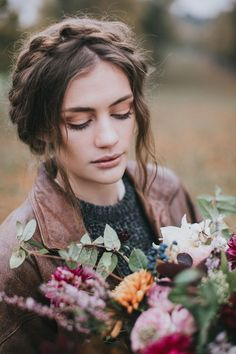 Bride in Leather Jacket - Stylish Autumnal Wedding Shoot From Top UK Wedding Suppliers The Wedding Collective | Images by Matt Horan Photography