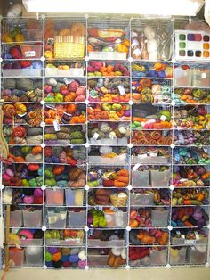 My dream yarn stash!! If I had more space in my house I could easily become a yarn hoarder!