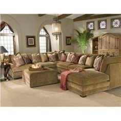Casbah Transitional U Shaped Sectional Sofa By King Hickory   Darvin  Furniture   Sofa Sectional Orland