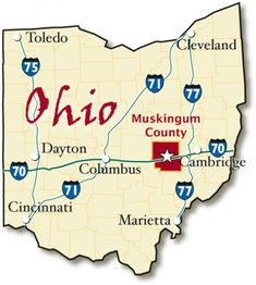 Ohio State Map in Fit-Together Style to match other states |Ohio State Capital Map