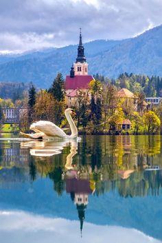 """""""La terra appartiene ai suoi proprietari, ma il paesaggio appartiene a chi sa apprezzarlo.""""  (UPTON BEALL SINCLAIR) in foto la bellissima isola nel lago Bled."""