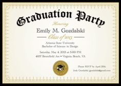 Graduation Invitation  Graduation Invitation Templates