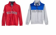NWT Tommy Hilfiger Boys Quarter Full Zip Varsity Pullover Sweater  #TommyHilfiger #Pullover #Everyday