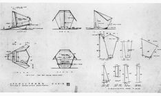 Woodworking Frank Lloyd Wright Origami Chair Plans Pdf - Home Plans & Blueprints Origami Chair, 3d Origami, Frank Lloyd Wright Style, Plywood Chair, Cardboard Chair, Chair Drawing, Black And White Chair, Chair Makeover, House Drawing