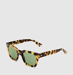 Gucci - Havana acetate square-frame sunglasses spotted tortoiseshell frame  with metal rivets  Gucci  Glasses  Sunglasses d72359e91ed