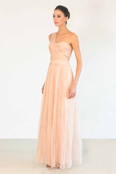 Catherine Deane Latoya Long Dress  Bodice structure on this one is pretty.