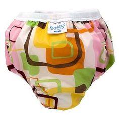 Kushies Taffeta Waterproof Training Pants, (training pants, potty training, girls training panties, training underwear, toilet training, cloth underwear, pull ups, cloth diapering, diaper, plastic pants)