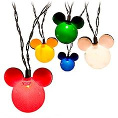 Mickey Mouse lights for tree! My little girl would love these on her tree in her room.