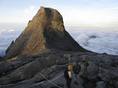 Mt. Kinabalu. One of the Highest Peaks in South East Asia