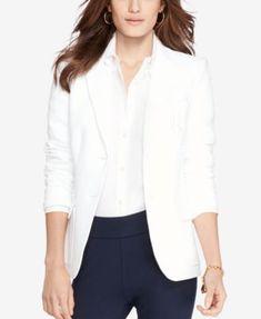 Lauren Ralph Lauren Monogrammed Two-Button Jacket   macys.com