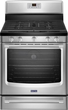 Maytag - 5.8 Cu. Ft. Self-Cleaning Freestanding Gas Convection Range - Stainless steel - Front Zoom