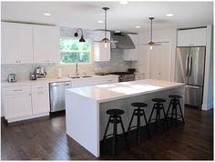 classy white kitchen