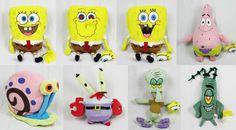 Spongebob Schwammkopf Gary Patrick Plankton Thadäus Plüschtier ♦♦♦ NEU & OVP ♦♦♦