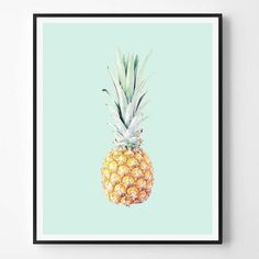 Pineapple Print Fruit Neutral Photo Minimal by ScandiHomeDesign