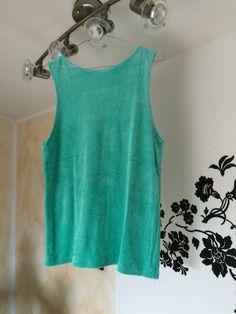 Canotta in ciniglia azzurra,modello over  Fatta da me! #handmade