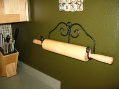 Amazon.com: Rolling Pin Holder Display Rack Wrought Iron Amish Made: Kitchen & Dining