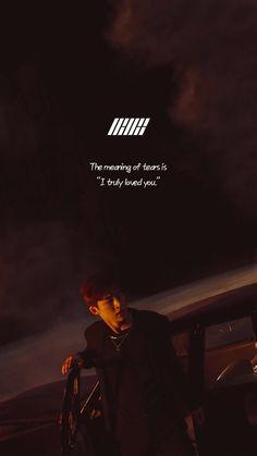 Chanwoo Ikon, Kim Hanbin, Song Lyrics Wallpaper, Wallpaper Quotes, Song Quotes, Life Quotes, Bts Quotes, Ikon Songs, Pop Lyrics