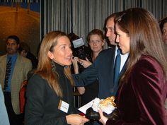 Mercedes López Caparrós y Rania de Jordania en NY en 2001 - Mercedes Lopez Caparros