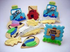 Gone fishing cookies