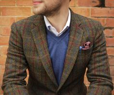 Harris Tweed Jacket Pocket Square