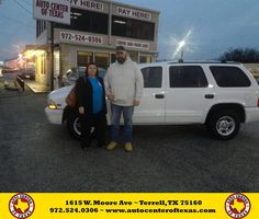 https://flic.kr/p/E7vaph | Happy Anniversary to Mr. & Mrs Orr on your #Dodge #Durango from David Herrera at Auto Center of Texas! | deliverymaxx.com/DealerReviews.aspx?DealerCode=QZQH