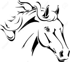 horse head lineart - Google Search
