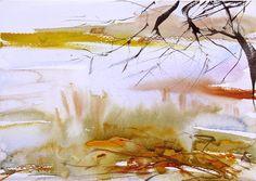 Watercolour landscape by Adrian Homersham