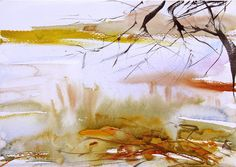 Watercolour landscape by Adrian Homersham