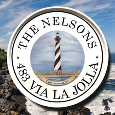 Lighthouse Address Plaque Cape Hatteras North Carolina Nautical House Sign Outdoor Numbers Beach Signsbeach