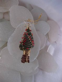 Sea glass, sea glass, Christmas tree ideas, jewelry idea, ornament, gifts crafts