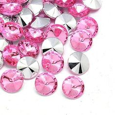 About 200 pcs of Imitation Taiwan Acrylic Rhinestone Cabochons, Rivoli Back and Faceted, Flat Round, PearlPink, 6x3mm * Check this awesome item by going to the link at the image.