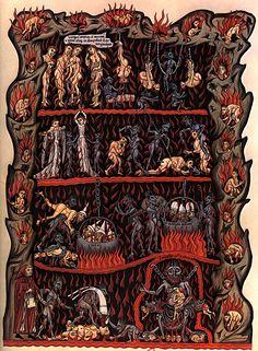 Abadesa Herrad von Landsberg, illustration for the pictorial encyclopedia Hortus deliciarum, circa Dark Art, Egypt, Illustration, Dark Ages, Medieval Paintings, Demonology, Illuminated Manuscript, Art, Classic Art