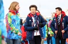 SOCHI, RUSSIA - FEBRUARY 06: Princess Anne (C) visits the Olympic Park ahead of the Sochi 2014 Winter Olympics on February 6, 2014 in Sochi, Russia. (Photo by Paul Gilham/Getty Images)